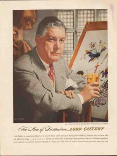 calvert distillers corp 1947 russell patterson designer vintage ad