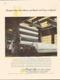 champion paper fibre company 1947 round comes out quality vintage ad
