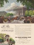 chase national bank 1947 in paris artist pierre brissaud vintage ad