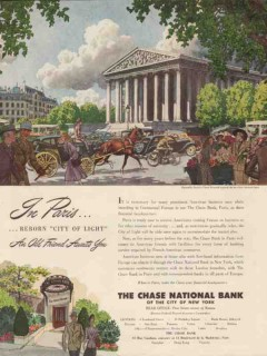 chase national bank 1947 in paris artist pierre brissaud vintage ad