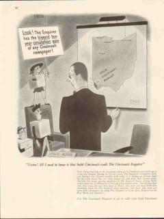 cincinnati enquirer 1947 biggest ten year circulation media vintage ad