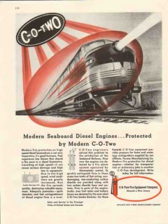 c-o-two fire equipment co 1947 seaboard diesel engine vintage ad
