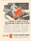 c-o-two fire equipment co 1947 watchman breathes sees smoke vintage ad