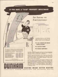 c a dunham company 1947 sick property baseboard heating vintage ad