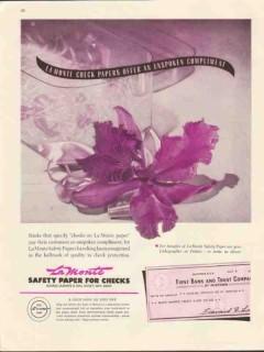 george la monte son 1947 check papers unspoken compliment vintage ad