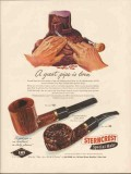 l and h stern inc 1947 lhs sterncrest a great pipe is born vintage ad