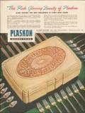 libbey owens ford glass co 1947 rich beauty plaskon chest vintage ad