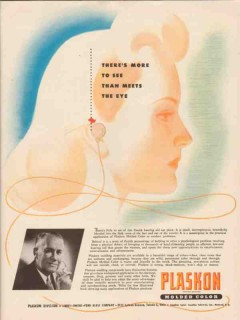 libbey owens ford glass co 1947 zenith hearing aid plaskon vintage ad