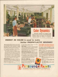 pittsburgh plate glass company 1947 prophylactic brush vintage ad