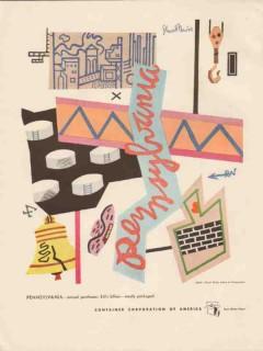 pennsylvania 1947 container corp america stuart davis vintage print ad