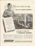 pneumatic scale corp 1947 general mills automatic packing vintage ad