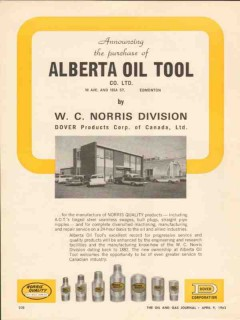 Alberta Oil Tool Company 1962 Vintage Ad Purchased by Dover Products