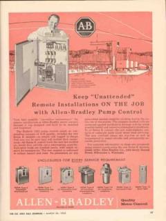 allen-bradley company 1962 remote installation pump control vintage ad