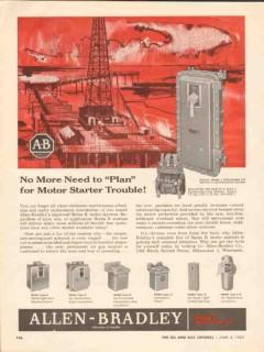 allen-bradley company 1962 no need plan motor start trouble vintage ad