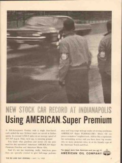 american oil company 1962 new stock car record indianapolis vintage ad