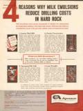 Atlas Chemical Industries 1962 Vintage Ad Lower Mud Bill Milk Emulsion