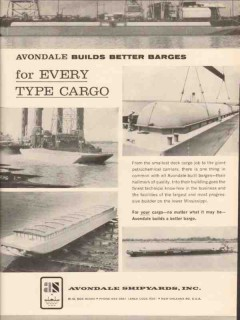 avondale shipyards inc 1962 builds better barges cargo vintage ad