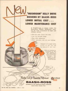 Baash-Ross Tool Company 1962 Vintage Ad Mushroom Kelly Drive Busing