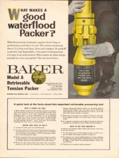 Baker Oil Tools Inc 1962 Vintage Ad Drilling Waterflood Packer Well