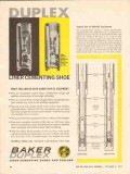 Baker Oil Tools Inc 1962 Vintage Ad Duplex Liner Cementing Shoe Collar