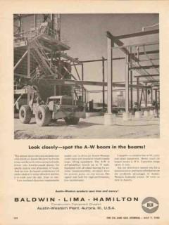 baldwin lima hamilton 1962 look austin-western boom crane vintage ad