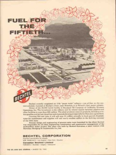 Bechtel Corp 1962 Vintage Ad Oil Barbers Point Hawaii Fuel Fiftieth