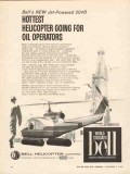 bell helicopter 1962 jet powered 204b for oil operators vintage ad