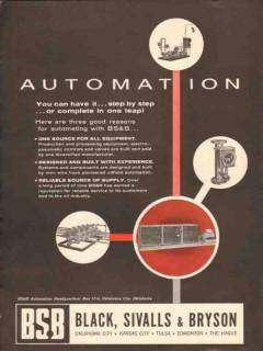 Black Sivalls Bryson Inc 1962 Vintage Ad Oil Gas Automation Equipment