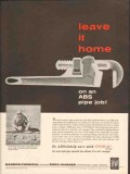 borg warner company 1962 marbon home abs plastic pipe vintage ad