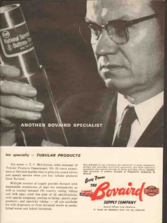 Bovaird Supply Company 1962 Vintage Ad Oil Mr T C McCuistion Sales Mgr