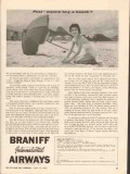 braniff international airways 1962 psst wanna buy a beach vintage ad