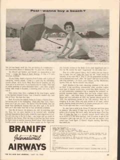 braniff international airways 1962 psst wanna buy a beach vintage ad