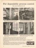 C M Kemp Mfg Company 1962 Vintage Ad Oil Dependable Process Control