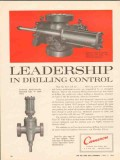 Cameron Iron Works 1962 Vintage Ad Oil Leadership Drilling Control 1