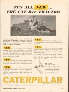 caterpillar tractor company 1962 all new cat d7e tractors vintage ad