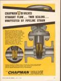 Chapman Valve Mfg Company 1962 Vintage Ad Oil Bi-Valves Straight Flow