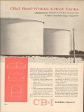 Chicago Bridge Iron Company 1962 Vintage Ad Oil Tank Roof-Within-Roof