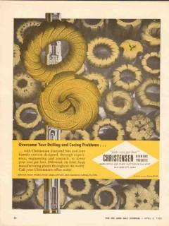 Christensen Diamond Products Company 1962 Vintage Ad Drilling Coring