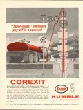 Humble Oil Refining Company 1962 Vintage Ad Corexit Inhibitors Squeeze
