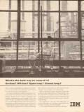 International Business Machines 1962 Vintage Ad Oil Control On-Line