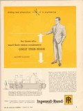 Ingersoll-Rand 1962 Vintage Ad Oil Steam Condensers Engineering High