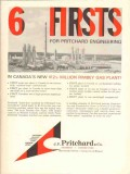 J F Pritchard Company 1962 Vintage Ad Rimbey Gas Plant Firsts Canada