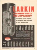Larkin Packer Company 1962 Vintage Ad Oil Field Cementing Equipment