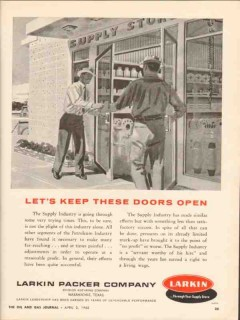 Larkin Packer Company 1962 Vintage Ad Oil Field Supply Industry Doors