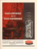 Larkin Packer Company 1962 Vintage Ad Oil Field Well Cementing Solid