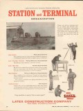 Latex Construction Company 1962 Vintage Ad Oil Piping Station Terminal
