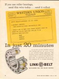 Link-Belt Company 1962 Vintage Ad Oil Field Well Roller Bearings