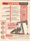 Lufkin Foundry Machine Company 1962 Vintage Ad Oil Field Pumper Means