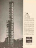 Lukens Steel Company 1962 Vintage Ad Oil Refining Bayway Cold Facts