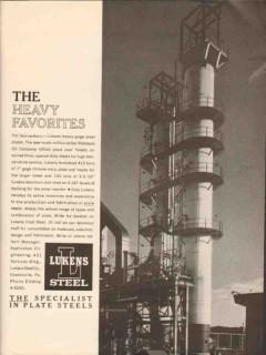 Lukens Steel Company 1962 Vintage Ad Oil Isocrackers Heavy Favorites